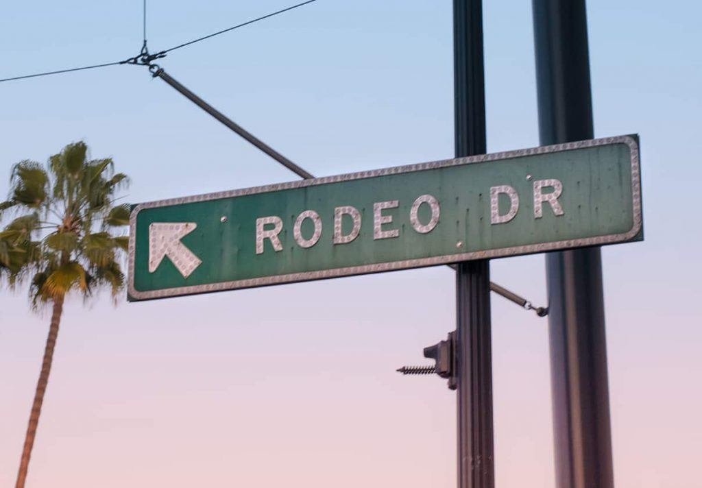 Beverly Hill rodeo Drive Sign