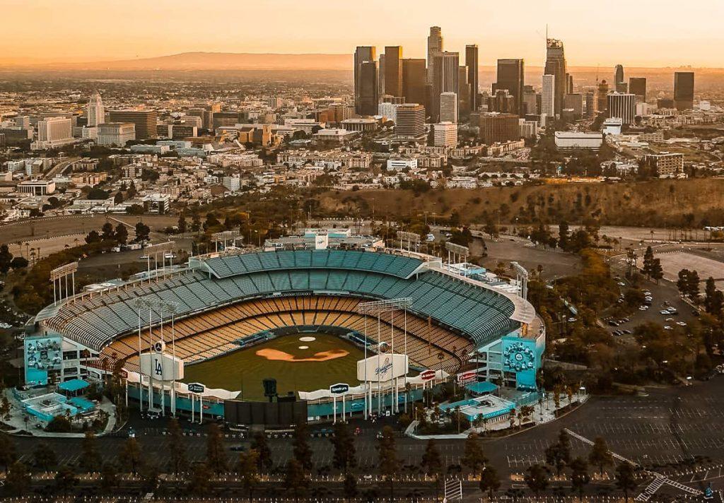 Dodger Stadium near downtown LA