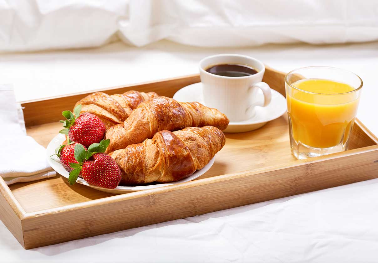 luxe City Center Room Service Breakfast