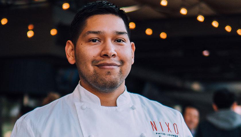 Chef Diaz on the Nixo patio